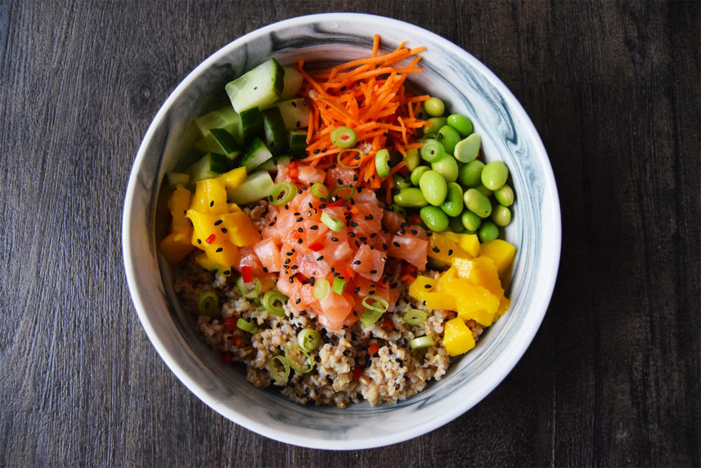 Foodmelodies oats poké bowl