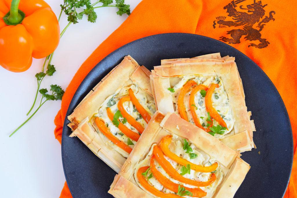 Foodmelodies Oranje paprika filodeeg