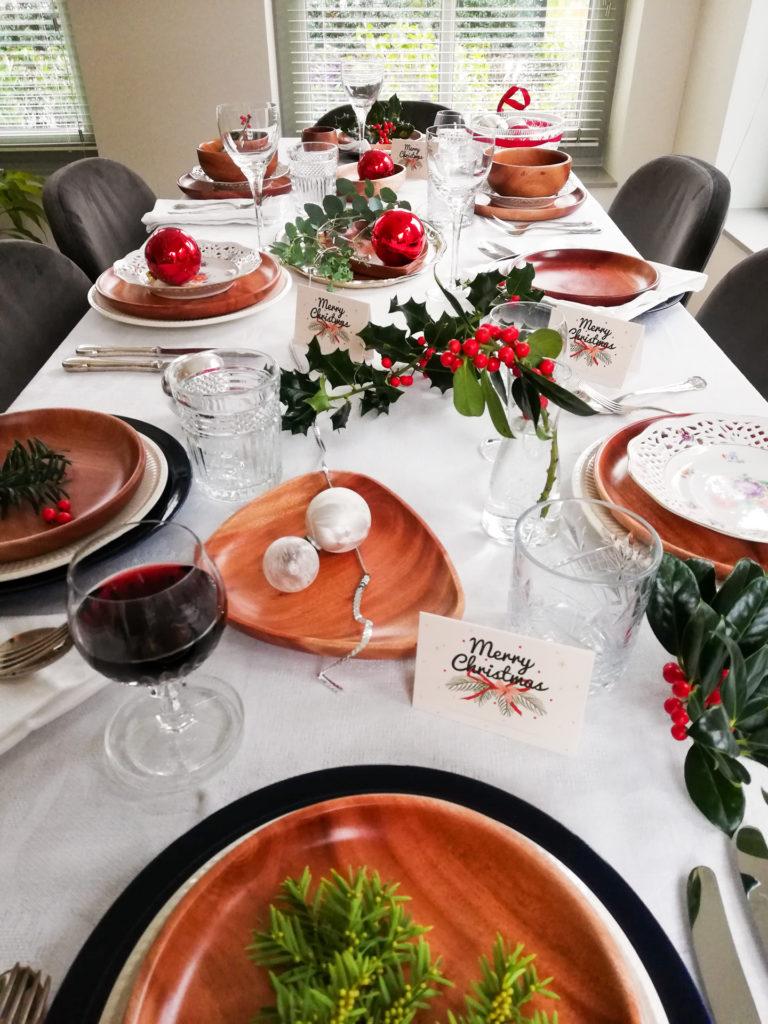 Khaya houten servies kerst